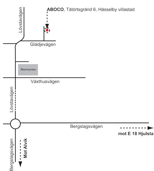 Karta till ABOCO